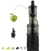 Estrattore di succo vivo big mouth slow juicer nero